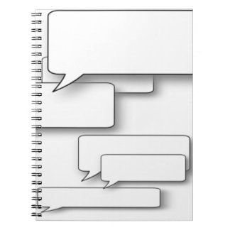 DIY Text - Custom Cartoon Speach Bubble Dialogue Notebooks