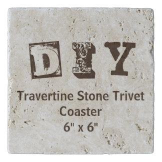 "DIY - Travertine Stone Trivet 6""x6"""