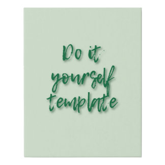 DIY Trendy Create Your Own Template Faux Canvas Print