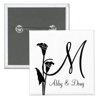 DIY Tulip logo with monogram Button
