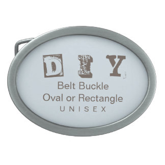 DIY - Unisex (More Options) Oval Belt Buckle