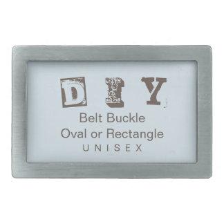 DIY - Unisex (More Options) Rectangular Belt Buckle