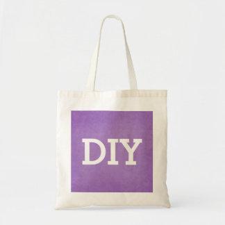 DIY usted lo diseña el fondo púrpura V01A Bolsa