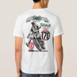 DIY Vintage Moto 40 Years CZ 380 Motocross 170 Shirt
