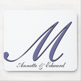 DIY wedding logo Mouse Pad