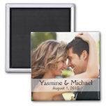 DIY Wedding Photo Square Keepsake Favor 2 Inch Square Magnet