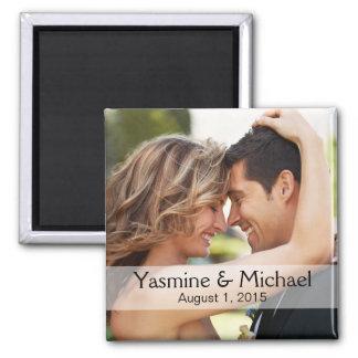 DIY Wedding Photo Square Keepsake Favor Fridge Magnets