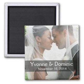 DIY Wedding Photo Square Keepsake Favor Magnet
