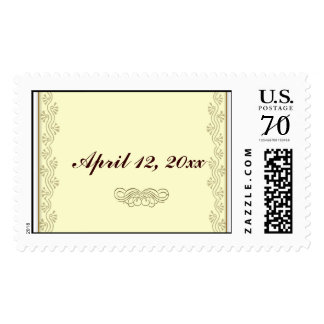 DIY Wedding Postage with gold leaf accent