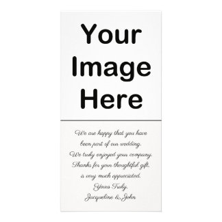 DIY - Wedding Thank You Photo Insert Card