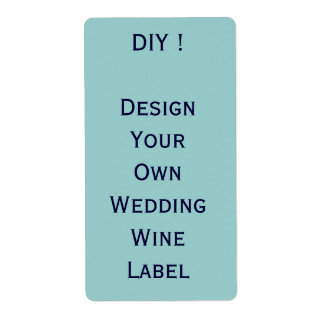 DIY - Wedding Wine Label - Design Your Own Personalized Shipping Labels