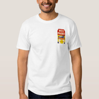 DIY Wet Paint Sign Graphic Design Pop Art Tshirts