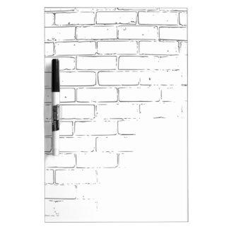DIY White Brick Wall to write Graffiti Dry Erase Board