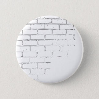 DIY White Brick Wall to write Graffiti Pinback Button