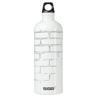 DIY White Brick Wall to write Graffiti SIGG Traveler 1.0L Water Bottle