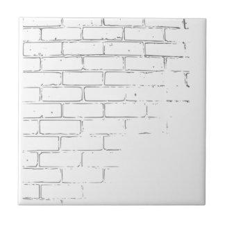 DIY White Brick Wall to write Graffiti Tile