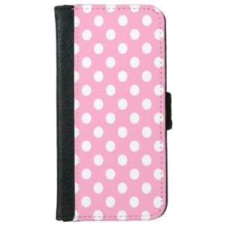 DIY White Polka Dots on Any Color Wallet Phone Case For iPhone 6/6s