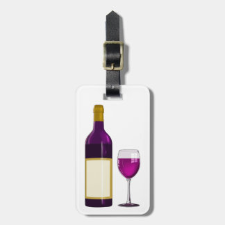 DIY WINE BOTTLE LABEL WINE GLASS CHEESE NAME TAG