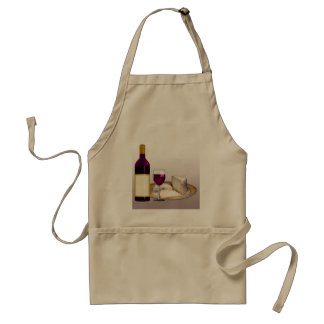 DIY WINE BOTTLE LABEL, WINE GLASS, CHEESE PERSONAL ADULT APRON
