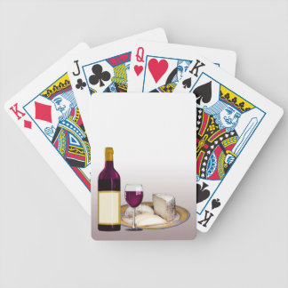 DIY WINE BOTTLE LABEL, WINE GLASS, CHEESE PERSONAL BICYCLE PLAYING CARDS