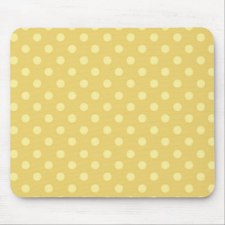 DIY Yellow Polka Dot Background Zazzle Gift Mouse Pad