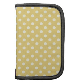DIY Yellow Polka Dot Background Zazzle Gift Planners
