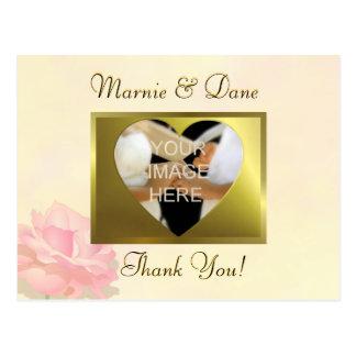 DIY Yellow Wedding Thank Your Card   Flower Set Postcard