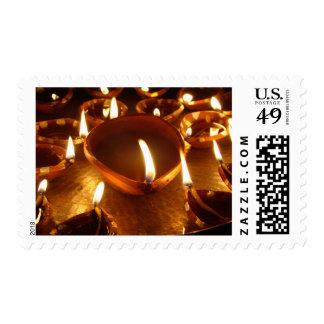 Diya Postage Stamp