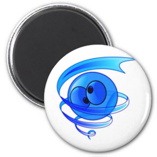 Dizzy Air Wind Cartoon Smiley Face Magnets