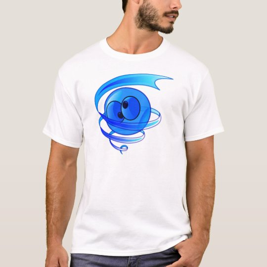 Dizzy Air Wind Cartoon Smiley Face T-Shirt