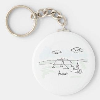 Dizzy Alien Visitors collection Basic Round Button Keychain