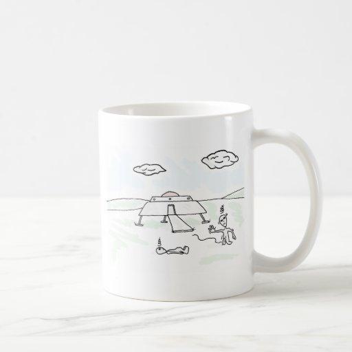 Dizzy Alien Visitors collection Classic White Coffee Mug
