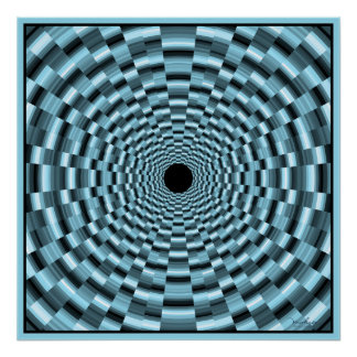 Dizzy Blue Tunnel Poster