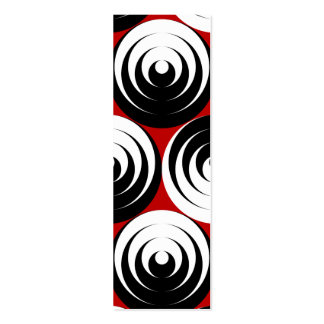 Dizzy circles business card template