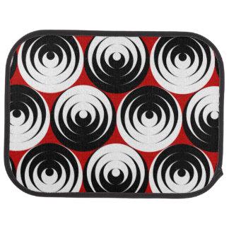 Dizzy circles car floor mat