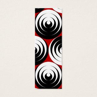 Dizzy circles mini business card