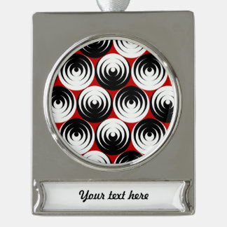 Dizzy circles silver plated banner ornament