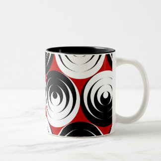 Dizzy circles Two-Tone coffee mug