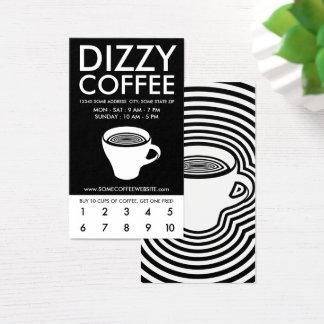 dizzy coffee loyalty business card