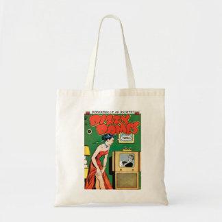 Dizzy Dames vintage magazine tote bag