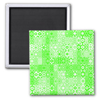 Dizzy Delights Pattern_Electric Green magnet