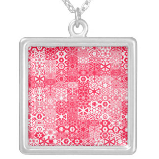 Dizzy Delights Pattern_red necklace pendant