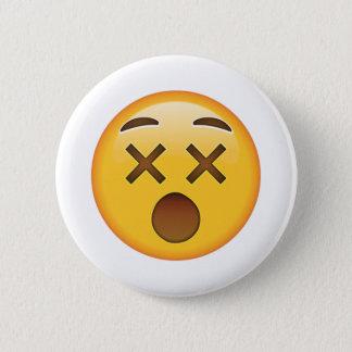 Dizzy Face - Emoji Pinback Button