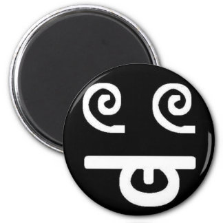 Dizzy Face Refrigerator Magnets