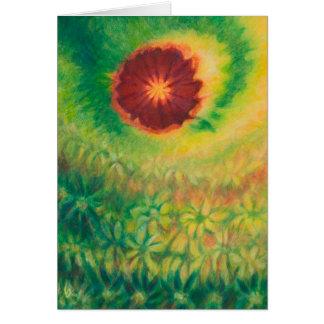 Dizzy Garden Greeting Card