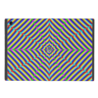 Dizzy Geometry + or - Cat Cover For iPad Mini