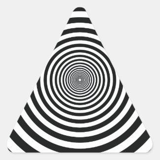 dizzy illusion black and white circle art vo1 triangle sticker
