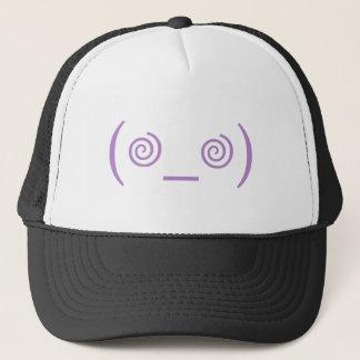 Dizzy in Purple Trucker Hat