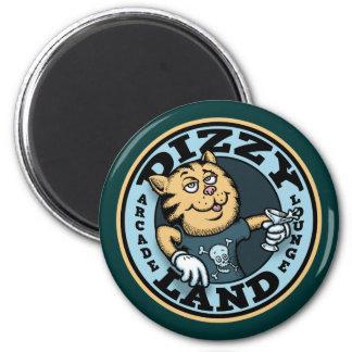 Dizzy Land 2 Inch Round Magnet