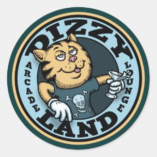 Dizzy Land Classic Round Sticker